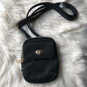 Travelon black crossbody purse wallet travel